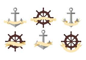 Pirate of Nautische Banners Gratis Vector