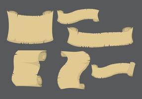 Piraat scroll papier vector
