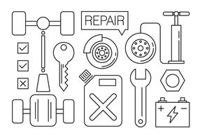 Gratis Auto Service Pictogrammen vector