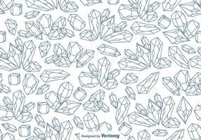 Vector naadloze lijnkwarts kristal patroon