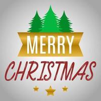 vrolijke kersttypografie en boomontwerp