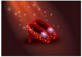 Gratis Ruby Slippers Vector