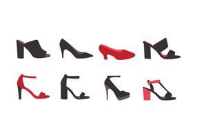 Vrouwen schoenen collectie vector