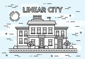 Gratis Lineaire Cityscape Vector Achtergrond