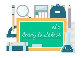 Gratis Flat Design Vector Terug naar School Elements