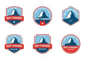 Matterhorn badge vector