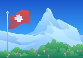 Matterhorn Zwitserland vector