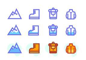 Matterhorn pictogramgids vector