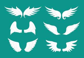 Engel vleugel vector item collectie