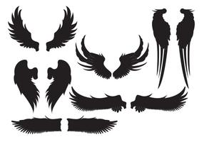 Silhouet Angel Wings vector