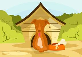 Hond in Dog House Vector