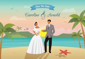 Strand bruiloft vector
