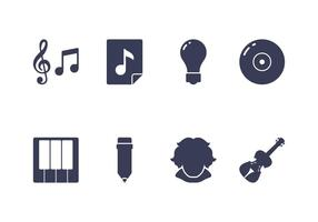 Componist Icon Set vector
