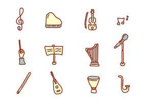 Klassieke Muziek Pictogrammen vector