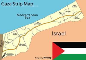 Vector Gaza Strip Kaart