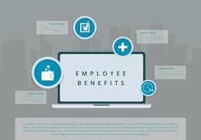 Werkgeversvoordelen Infographic Templates vector