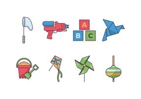 Kids play icon vector