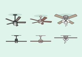 Plafond ventilator gratis vector pack