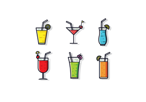 Gratis Mocktail Vector