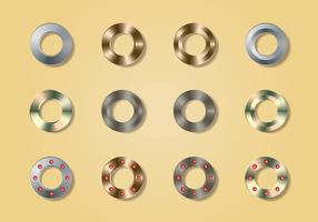 Metal Jeans Buttons collectie vector