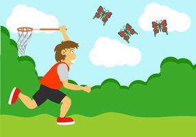 Catch Butterfly Illustratie vector
