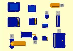 Kaartlezer Platte kleur vector