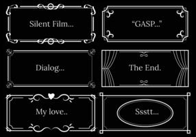 Stille film dialoog template vector