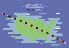 Gratis Amerikaanse Solar Eclipse Pad Kaart Illustratie vector