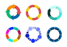 Kleurrijke levenscyclusvector vector