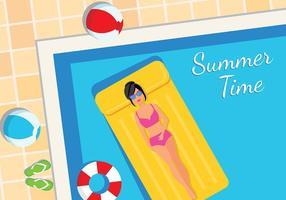 Innertube Sunbath Gratis Vector