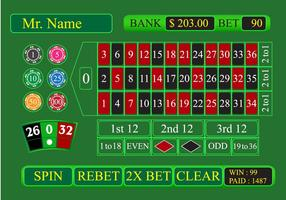 Online roulette app vector