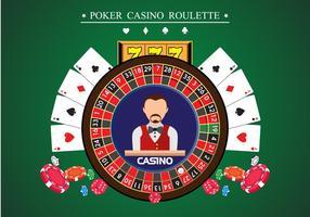 Poker casino roulatte vector