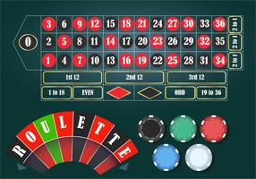 Roulette Casino Tablet Set vector