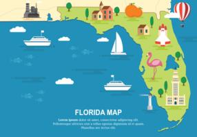 Florida Kaart Vectorillustratie vector