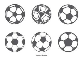Voetbalbal icon collectie vector