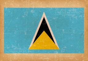 Grunge Vlag van Saint Lucia vector