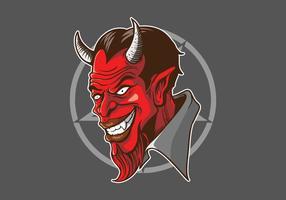 Duivels Hoofd Illustratie