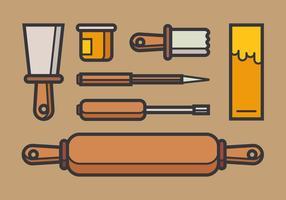 Lithograph tools vector
