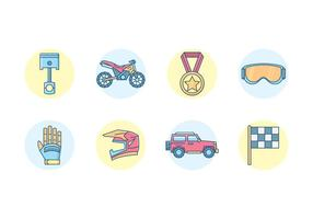 Off-road race iconen vector