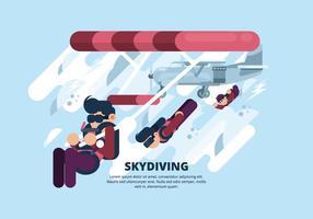Skydiving Illustratie vector