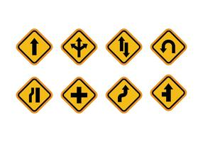 Road sign vector pack
