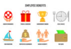 Set Icons Employee Benefits Iconen