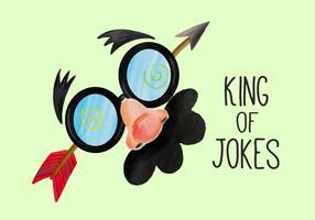 Leuke Masker Illustratie voor de Dag van de Dwaasdag van de April