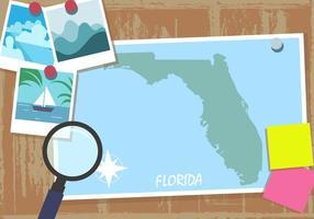 Florida kaart plat stijl vector