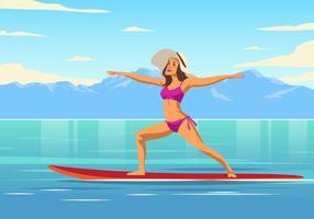 Yoga Paddleboard Vector