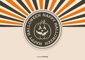 Retro Stijl Halloween Achtergrond