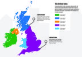 Britse Eilanden Kaart Infographic vector