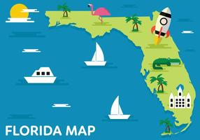 Florida Kaart Vectorillustratie