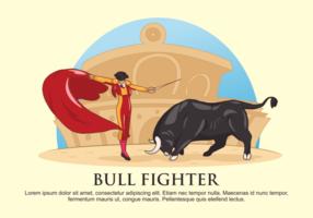 Bull Vechter Vector Illustratie