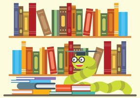Bookworm Vectorillustratie